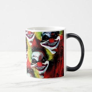 creepy halloween horror clown magic mug