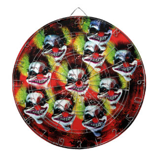 creepy halloween horror clown pattern dartboard