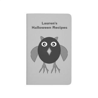 Creepy Halloween Owl Customizable Recipe Journal
