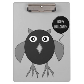 Creepy Halloween Party Owl Clipboard
