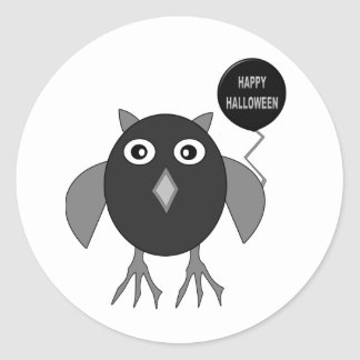 Creepy Halloween Party Owl Stickers
