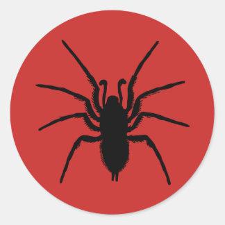 Creepy Halloween Party Red Black Spider Sticker