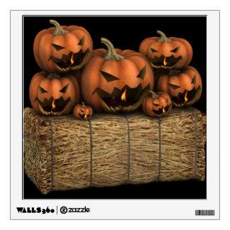 Creepy Halloween Pumpkins Wall Sticker