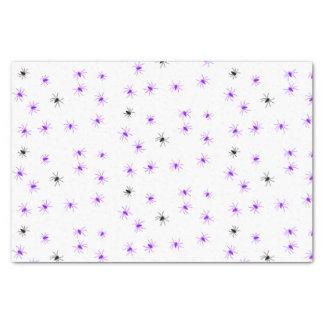 Creepy Halloween Purple Black Spider Tissue Paper