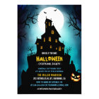 Creepy Haunted House Scary Halloween Party Card