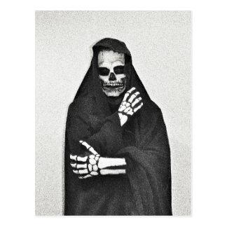Creepy Hooded Figure Postcard