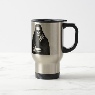 Creepy Hooded Figure Travel Mug