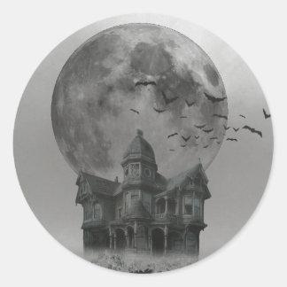 Creepy House [Classic Round Sticker]y Classic Round Sticker