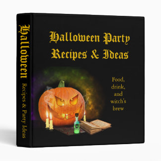 Creepy Jack O'Lantern Halloween Recipe Binder