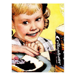 Creepy Jam Girl Postcard