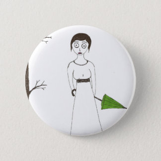 Creepy Jane Austen Rice Painting 2 Inch Round Button