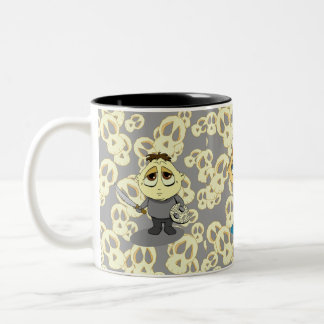 Creepy Kidz Trio Two-Tone Coffee Mug
