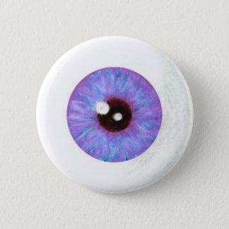 Creepy Lavendar Azure Eyeball Button