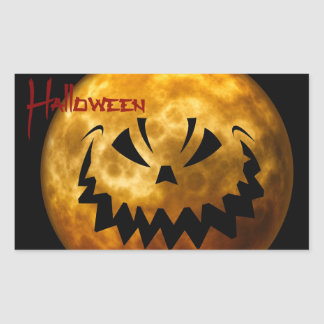 Creepy Moon Halloween Sticker