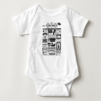 creepy newspaper baby bodysuit