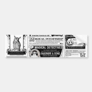 creepy newspaper bumper sticker