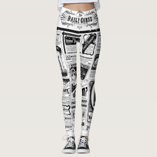 Creepy Newspaper leggings