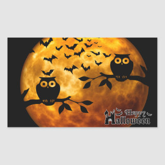 Creepy Owls, Bloody Bats and Halloween Moon Sticker