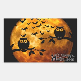 Creepy Owls, Vampire Bats and Halloween Moon Sticker