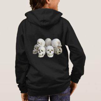 Creepy pile of skulls kid's hoodie
