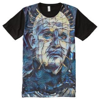 Creepy Pinhead Demon Dark Horror Fantasy Art All-Over-Print T-Shirt