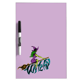 Creepy & Playful Witchy Witch Dry Erase Board