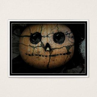 Creepy  Pumpkin Jack-o-Lantern Business Card