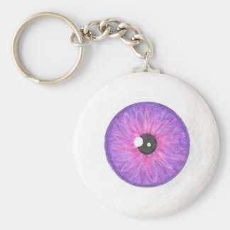 Creepy Purple pink Eyeball Keychain