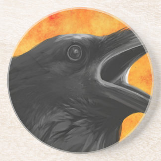 Creepy Raven Beverage Coasters