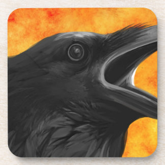 Creepy Raven Coaster