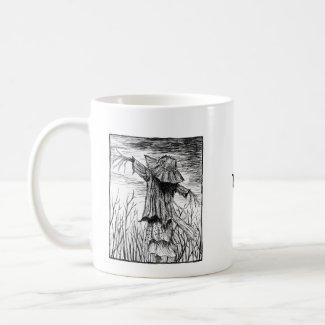 Creepy Scarecrow Dark Goth art Horror Fan custom Coffee Mug