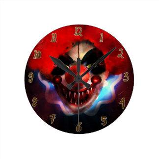 Creepy Scary Killer Clown Halloween Custom Round Clock