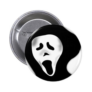 Creepy Scary Screaming Ghostly Ghoul Face 2 Inch Round Button