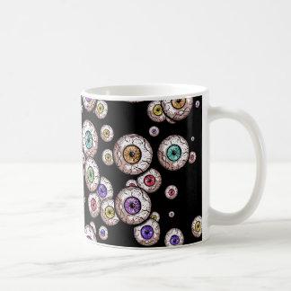 Creepy Scattered Eyeballs - mug