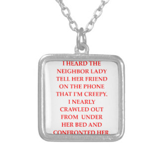 CREEPY SILVER PLATED NECKLACE
