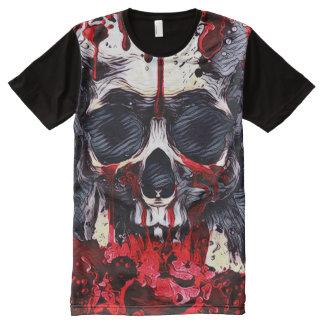 Creepy Skull Horror Theme Dark Art All-Over-Print T-Shirt