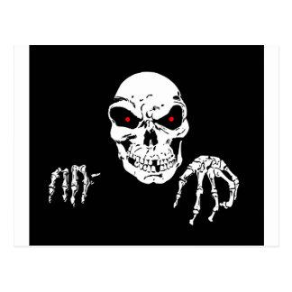 Creepy Skull Postcard