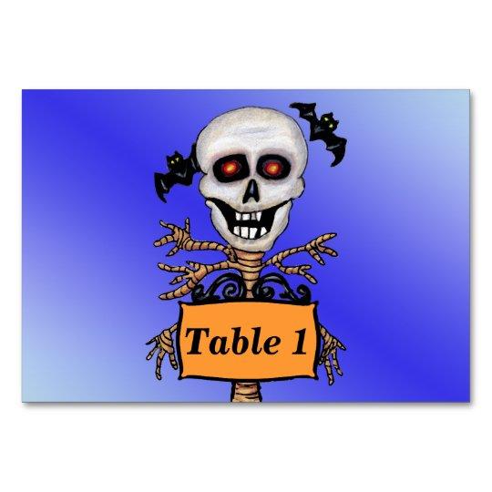 Creepy Skull Tree Beware Sign Bats Card