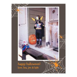 Creepy spider web frame custom photo Halloween Personalized Invitation