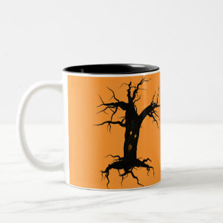 Creepy Tree Two-Tone Coffee Mug