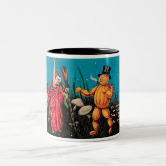 Creepy Vintage Halloween Card Coffee Cup