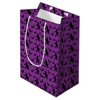 Creepy Witch Broom Halloween Party Favor Gift Bag