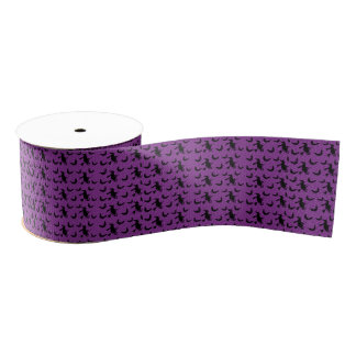 Creepy Witch Broom Halloween Party Gifts Ribbon Grosgrain Ribbon