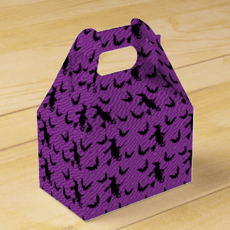 Creepy Witches Broom Halloween Party Favor Box
