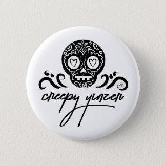 Creepy Yinzer Sugar Skull Emoji 2 Inch Round Button