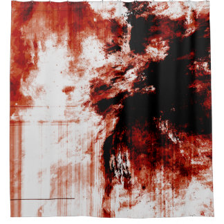 Creepy Zombie Bloody Shower Curtain Liner