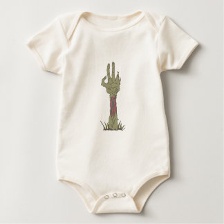 Creepy Zombie Haind Rising Baby Bodysuit