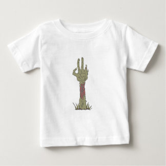 Creepy Zombie Haind Rising Baby T-Shirt