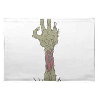 Creepy Zombie Haind Rising Placemat