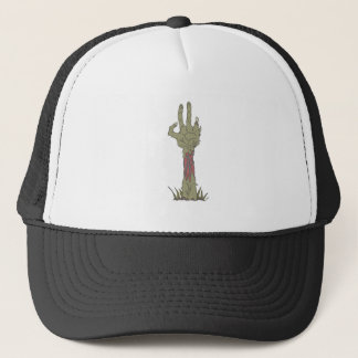 Creepy Zombie Haind Rising Trucker Hat
